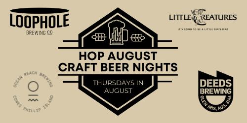 hop august craft beer nights